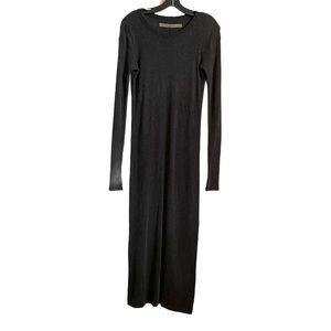ENZA COSTA Rib Knit Cashmere Midi Dress